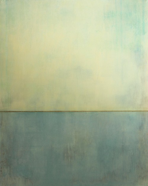 arpeggia:  Christian Hetzel - Blue Silence, 2012, acrylic, string on canvas