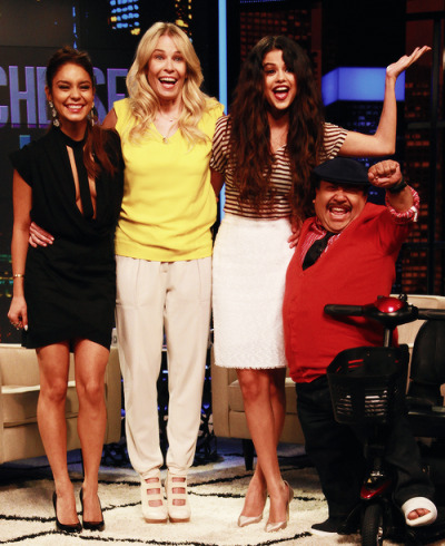 Vanessa Hudgens + Selena Gomez appeared on 'Chelsea Lately' on Thursday. Watch their appearance here…