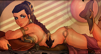 Slave Princess Leia Skywalker Organa of Star Wars Episode VI - Return of the Jedi (1986)