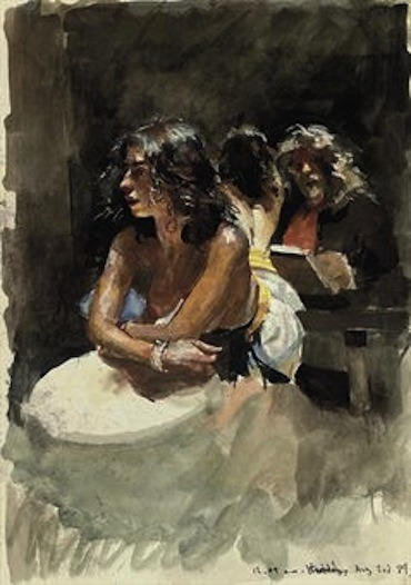 Robert Lenkiewicz (1941-2002), Self-Portrait with model