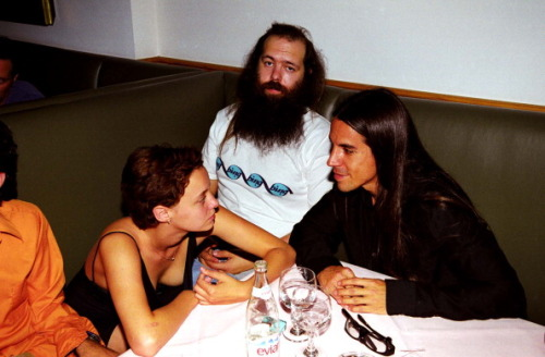 Bijou Phillips, Rick Rubin and Anthony Kiedis, 1998.