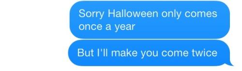 I wouldn't stop saying Halloween jokes 😂
