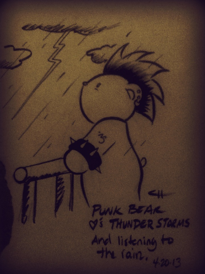 PUNK BEAR Loves Thunder Storms by ~ChibiCelina