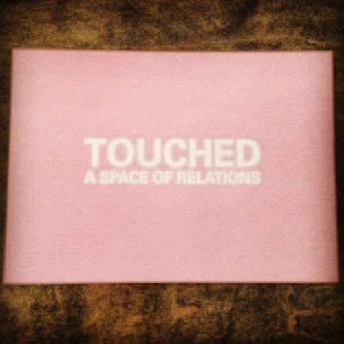 2011 Postcard flashback! Touched: A Space of Relations #janineantoni #lygiaclark #lynnhershmanleeson #annettemessager #touch #touched #pink #sense #body #bodily