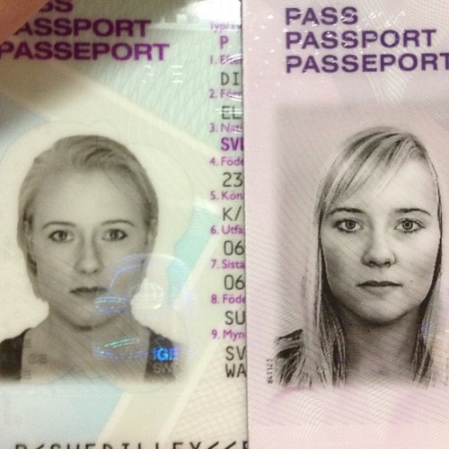 New and old passport photos.