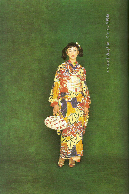 wafukuthings:  Kimono-hime issue 1. Fashion shoot page 5 by Satomi Grim on Flickr.