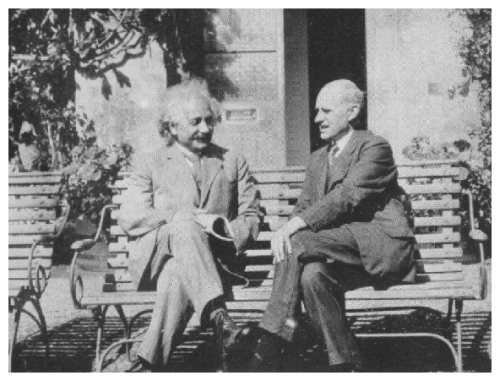 Albert Einstein and Arthur Eddington, Cambridge, 1930