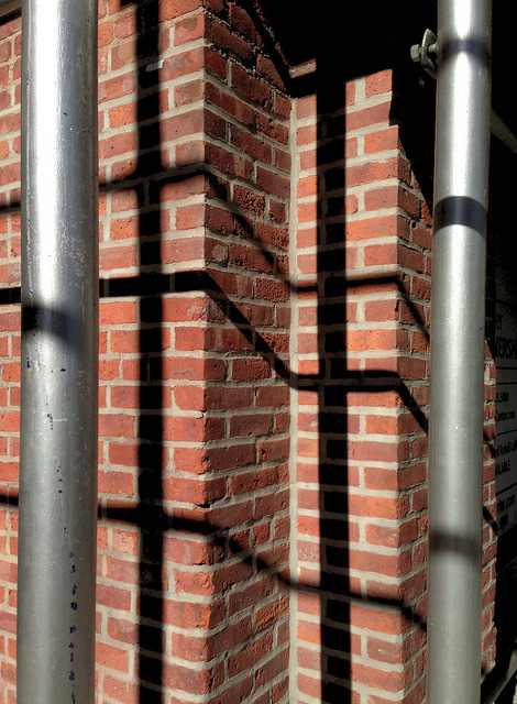 jdalton:  More scaffolding. Monroe Street, Hoboken, NJ on Flickr.