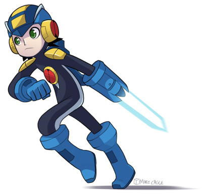 cubewatermelon:  I drew a Rockman.exe because it's a free country D: D: