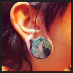 I fell in love with these stone plugs as soon as I saw them. #pine #jasper
