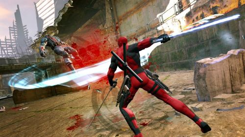 final-five:  New Deadpool Gameplay Screenshots Swords, Guns, and Blood!! My favorite!! Oh, I think I just had a Deadpool moment… -AlucardVK
