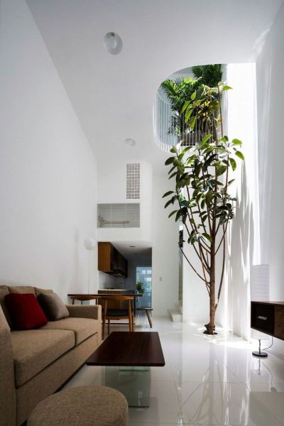 Narrow Vertical Home Maximizes Light and Space in Vietnam