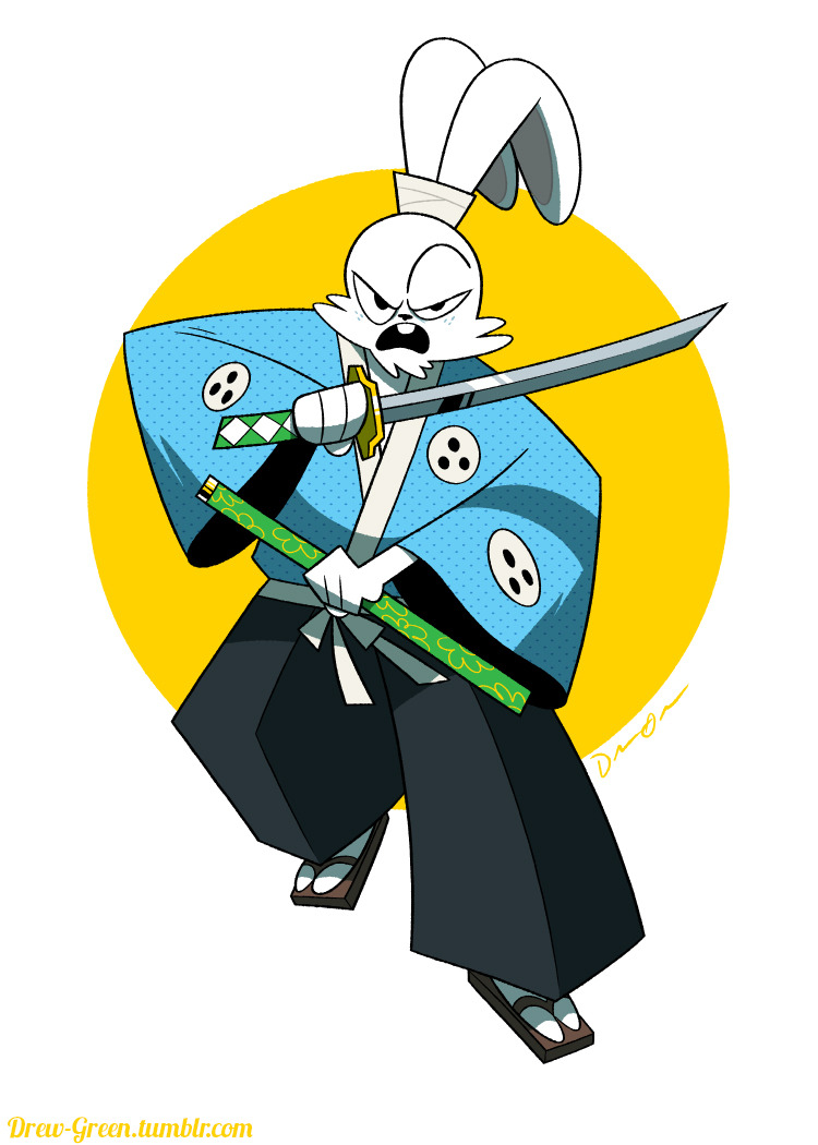 drew-green:  Hey folks! This is a picture of Usagi Yojimbo, for one of the contributors from my Indiegogo campaign last year.  FINALLY getting around to fulfilling the perks.  I'm such an asshat. Anyway, enjoy! ~Drew