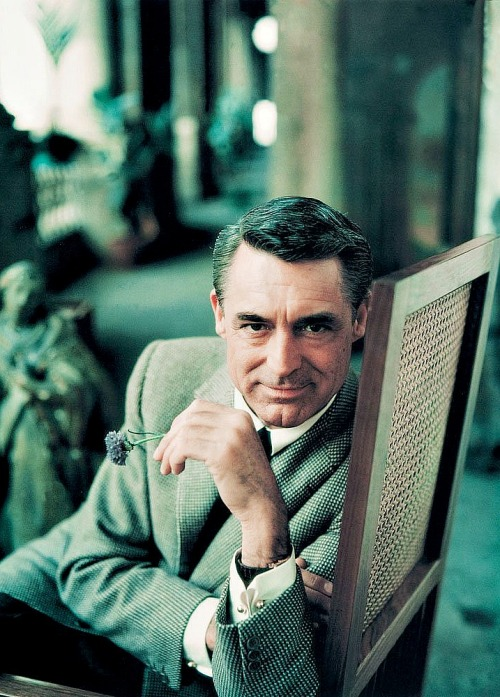 Cary Grant photographed by Milton Greene, 1958.