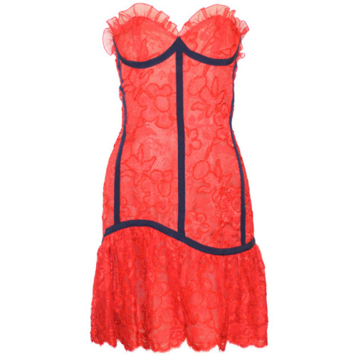Yves Saint Laurent dress   ❤ liked on Polyvore (see more vintage red dresses)