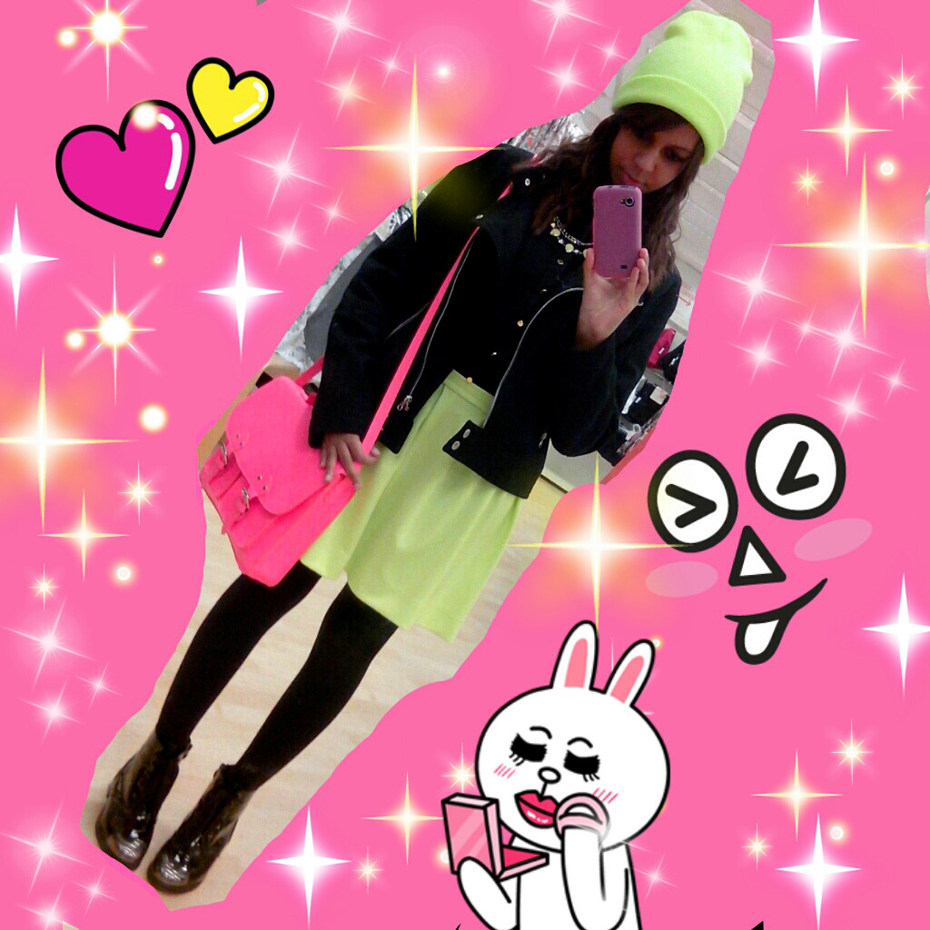 Today's look #ootd #neon