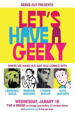 lawrencegullo:  Hey NYC area comic fans!  Come say hello to me at this completely awesome event - Let's Have a Geeky!  We'll be discussing queer representations in comics at a pop-up queer bookstore. I am really excited and nervous!!!! I am taking copious notes.    Just a reminder - this Wednesday!