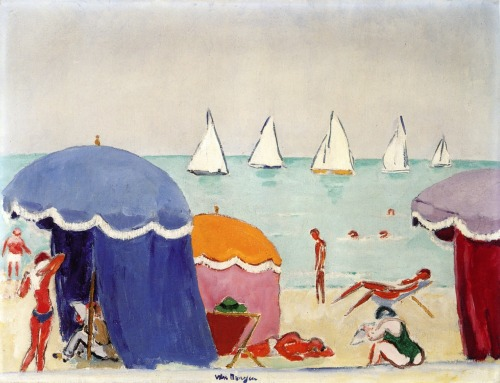 bofransson:  The Beach at Deauville Kees Van Dongen