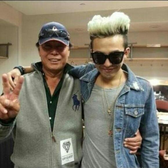 GD and his father.