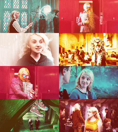 dragonfiretwistedwire:  Screencap Meme → Luna Lovegood + Colors Abound (for Becky)