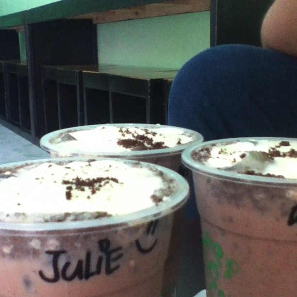 Here at #Gotcha-a. With Ellyssa and Rica (at Gotcha-a! Milktea)