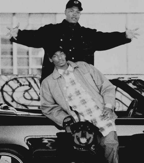 female-hustla:  Dr. Dre & Snoop Dogg
