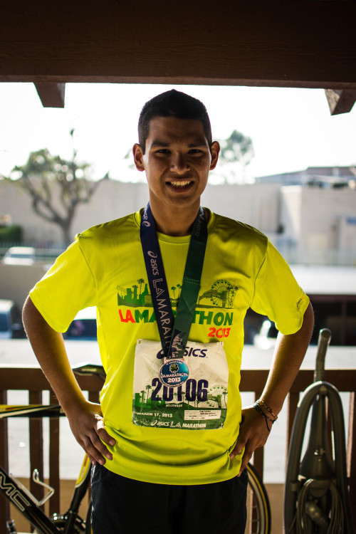 diegz003:  My dream/goal to run my first marathon has came true. I completed the 2013 Asics LA Marathon!! It was an amazing experience, I was able to do well until i hit mile 18. My legs were killing me so much in the final 8 miles, but i fought through. I went through so much pain, but i felt so accomplished! I finished at 5:04:16  Congratulations to rest of the runners who participated! (:  Way to go!