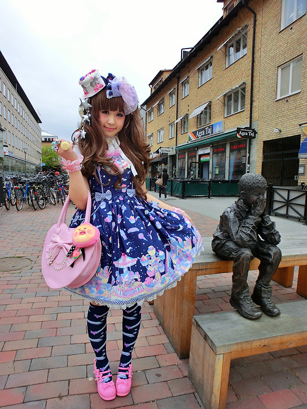 yannmmm:  Milky Planet  (by Melva Yan)Today's outfit: Angelic Pretty-Milky Planet (๑¯ ³¯๑).:*☆