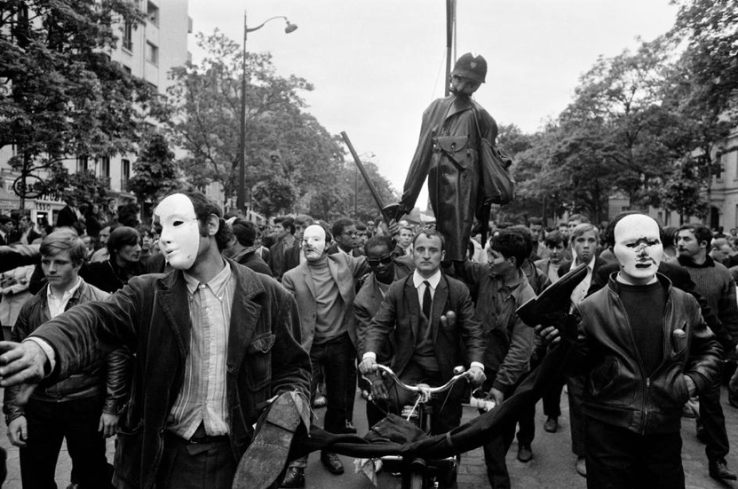 Bruno Barbey     Student Demonstrators, Paris     May, 1968