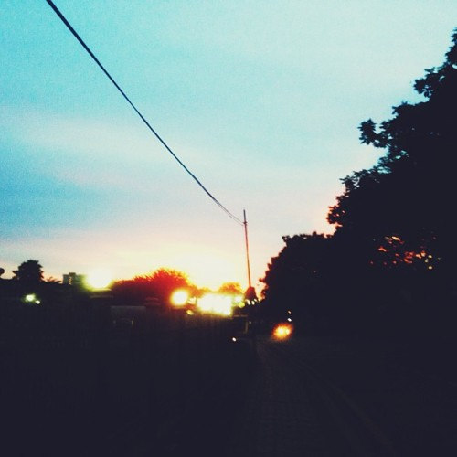 Sunset from today's run  (at Sekolah Menengah Bukit Bintang)
