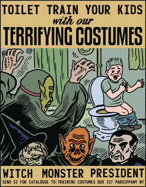 fantagraphics:  mkupperman:  Before Halloween.  Nixon'll scare the crap out of anybody. A Thrizzling ad by Michael Kupperman.