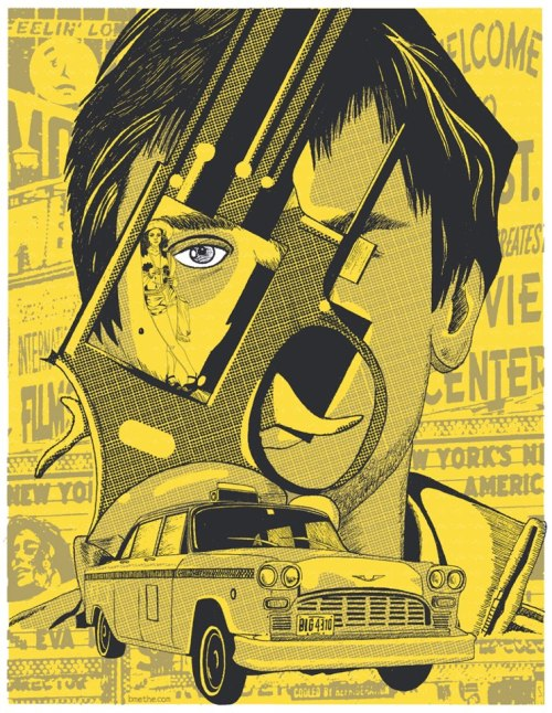 Absolutely loving this Taxi Driver-inspired screen print by artist Brian Methe, part of our Scorsese themed art show, happening this weekend! Join us this Friday night in New York City for the opening reception/party, learn more about the event here. This limited edition, signed and numbered screen print will be available first to attendees at this weekend's show in NYC, with any remaining copies available online after!