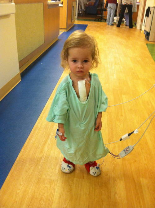 This beautiful little girl had open heart surgery less than 24 hours before this photo was taken. When asked why she was up so quickly, she replied her Hello Kitty slippers make everything better.  Note: This photo was published with permission from her mother.   This inspires me to continue to become a doctor