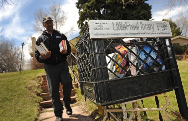 Tiny libraries in front yards across Colorado inspire love of books  When community activist Greg Rasheed first heard about tiny libraries popping up in front yards across America, he wanted to spark the trend in Denver. He bought a bread box at Goodwill, filled it with books, put it in the front yard of his North City Park home and waited for folks to partake of his Little Free Library. Soon enough, sanitation crews, construction workers and neighborhood kids were all grabbing books.  Read more about how these hyperlocal libraries are exciting book-lovers across Colorado