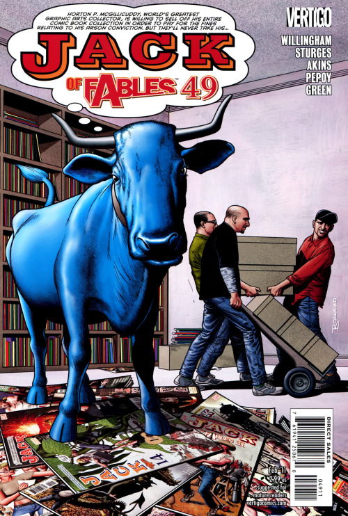 Jack Of Fables #49, February 2011, cover by Brian Bolland