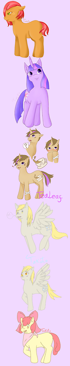 Deviantart Pony doodles c: Cause Season 3 and all.