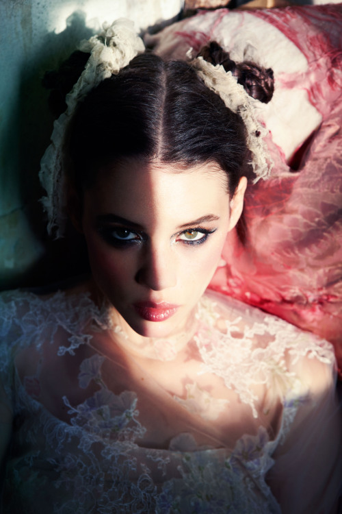 suicideblonde:  Astrid Bergès-Frisbey photographed by Ellen von Unwerth for Vogue Italia, March 2012