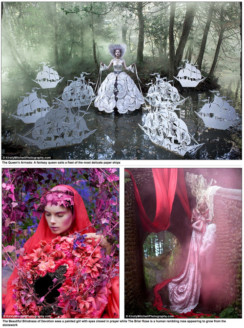 xharox:  kamdensl:  thestarlighthotel:  Kirsty Mitchell's late mother Maureen was an English teacher who spent her life inspiring generations of children with imaginative stories and plays. Following Maureen's death from a brain tumour in 2008, Kirsty channelled her grief into her passion for photography. She retreated behind the lens of her camera and created Wonderland, an ethereal fantasy world. The photographic series began as a small summer project but grew into an inspirational creative journey. 'Real life became a difficult place to deal with, and I found myself retreating further into an alternative existence through the portal of my camera,' said the artist. (read the rest here).  These photos are absolutely stunning.  A perfect way to honor the memory of her mother.  I bet she'd love these photos.  So breath taking!
