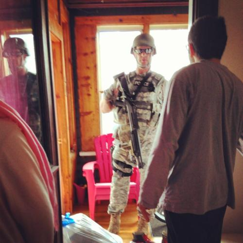 buzzfeed:  SWAT going door to door in Watertown searching houses.   Wow. Sorry for the reblogs but I need to keep this image.