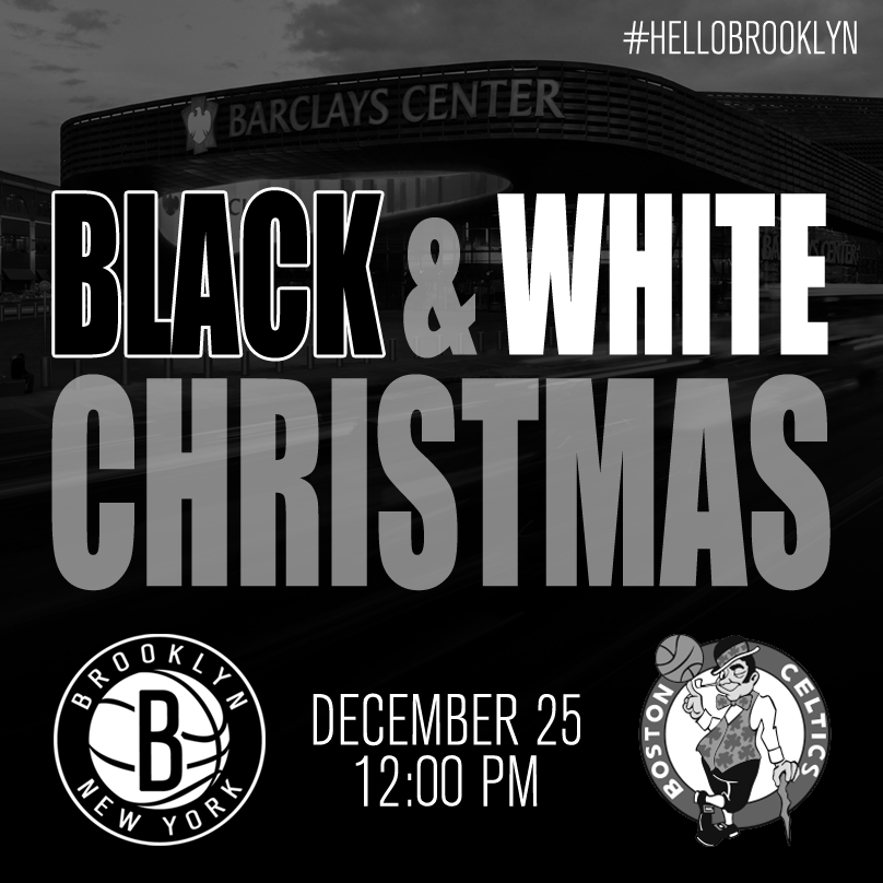 It's a Black and White Christmas in Brooklyn this year.