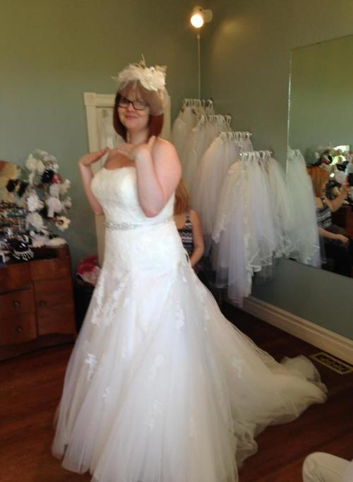 I found THE dress and have never felt more beautiful. <3 :) Size- 14/16 Weight- 185 45-36-47