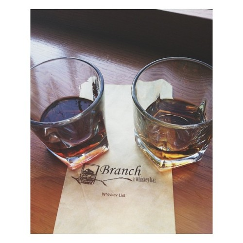Whiskey tasting Tuesday with @because78910  (at Branch Whiskey Bar)