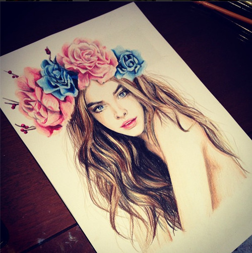 barbara palvin art | via Facebook on We Heart It - http://weheartit.com/entry/61968797/via/Hellen0mia   Hearted from: https://www.facebook.com/photo.php?fbid=521411977915714&set=a.296085963781651.68765.296072667116314&type=1&theater