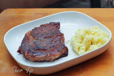 Crusty Ribeye by sheryip on Flickr.
