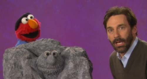 Watch Jon Hamm and Elmo Discuss Sculpture on Sesame Street