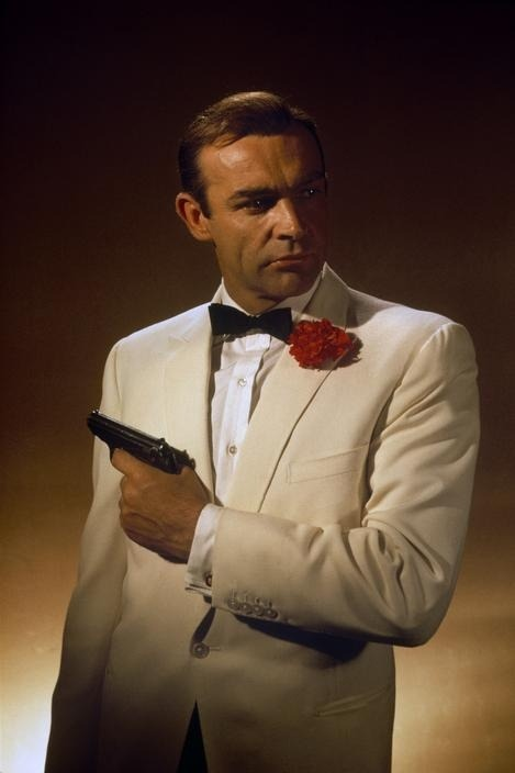 theswinginsixties:  Sean Connery as James Bond in 'Goldfinger', 1964.