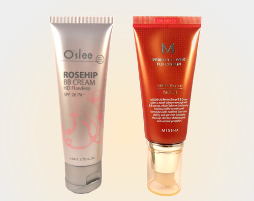 Asian BB Creams Missha BB Cream Oslee BB Cream Review and Swatches