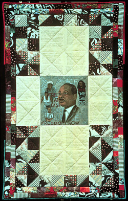 blackcontemporaryart:  Faith Ringgold Dream 2: King and the Sisterhood, 1988. Acrylic on canvas; 96 x 60 inches.
