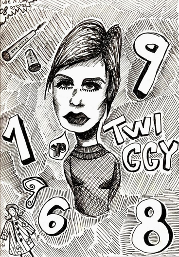 aww i was sixteen and fan of twiggy.