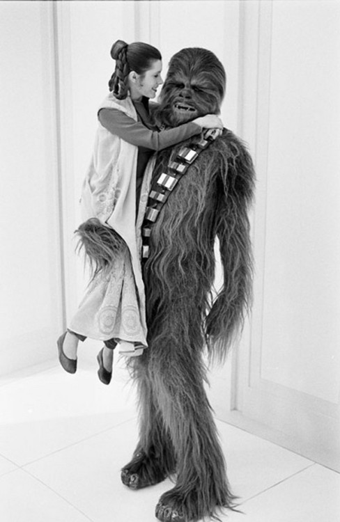 funnyordie:  11 Photos of Princess Leia Being a Little Tease on Set of Empire Strikes Back The filming of Empire Strikes Back was a massive undertaking. Long days on set, and even longer nights. Princess Leia (Carrier Fisher) didn't seem to mind one bit.